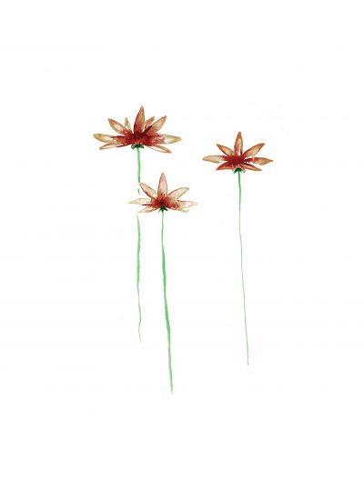 Kaart a6 3 bloemen